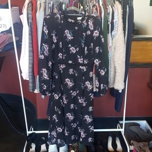 Midi Dress | Floral | Size Small | June and Hudson